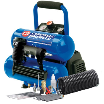 Campbell Hausfeld FP209599AV 1.0 HP 2 Gallon Oil-Free Twinstack Air Compressor and 2-in-1 Brad Nailer/Stapler Kit at Sears.com