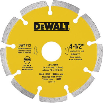 DeWalt DW4713 4-1/2-in x .080-in Extended Performance Segmented Blade at Sears.com