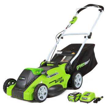 Greenworks 25322 40V G-Max Cordless Lithium-Ion 16-in 2-in-1 Lawn Mower at Sears.com