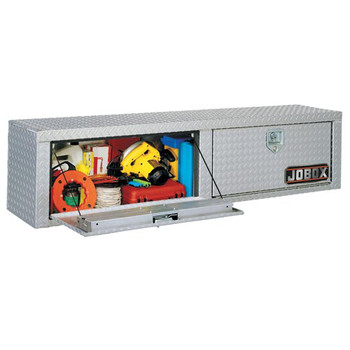 "Jobox 868983 87"" Long Aluminum Heavy-Duty Topside Box with Shelf - Bright at Sears.com"