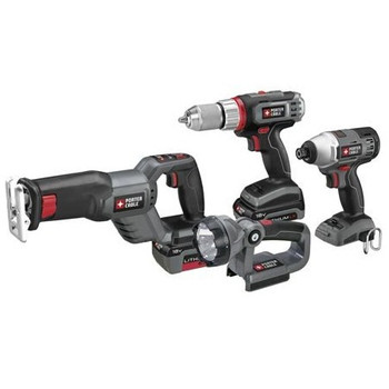 Porter-Cable PCL418IDC-2 Tradesman 18V Cordless Lithium-Ion 4-Tool Combo Kit at Sears.com