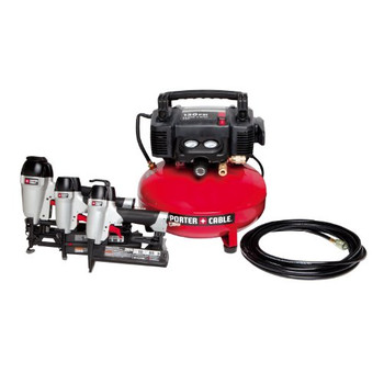 Porter-Cable Factory-Reconditioned HP3PAKR 2-1/2-in Finish Nailer, 1-3/8-in Brad Nailer, 1-in Stapler and Compressor Combo Kit at Sears.com
