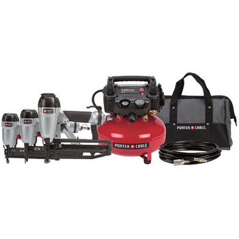 Porter-Cable Factory-Reconditioned PC3PAKR 2-1/2-in Finish Nailer, 1-3/8-in Brad Nailer, 1-in Stapler and Compressor Combo Kit at Sears.com