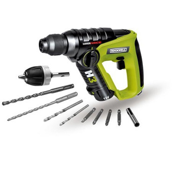 Rockwell RK2513K2 H3 12V Cordless LithiumTech 3-in-1 Rotary Hammer Kit at Sears.com
