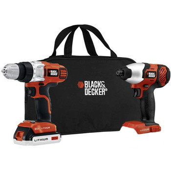 Black & Decker BDCD220IA-1 20V MAX Cordless Lithium-Ion 3/8 in. Drill Driver & Impact Driver Combo Kit 2/ 1 Battery Pack at Sears.com