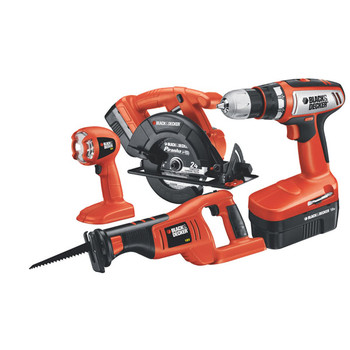 Black & Decker CD418C-2 18V Cordless Lithium-Ion 4-Tool Combo Kit at Sears.com