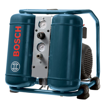 Bosch CET3-10 1.0 HP 3 Gallon Oil-Lube Angled Twin Tank Air Compressor at Sears.com