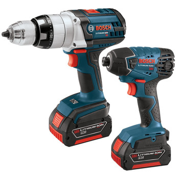 Bosch CLPK221-181 18V Cordless Lithium-Ion 1/2 in. Hammer Drill and Impact Driver Combo Kit at Sears.com