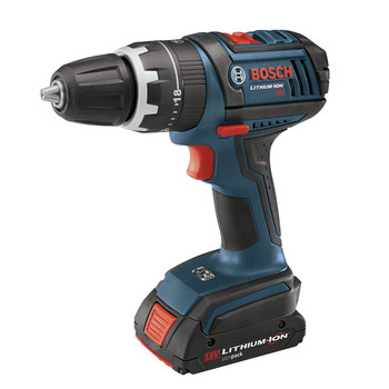 Bosch HDS180-02 18V Cordless Lithium-Ion Compact Tough 1/2 in. Hammer Drill Driver with 2 Slim Pack Batteries at Sears.com