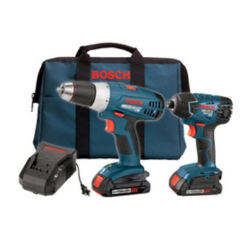 Bosch Factory-Reconditioned CLPK23-180-RT 18V Cordless Lithium-Ion 1/2 in. Compact Drill Driver and Impact Driver Combo Kit at Sears.com