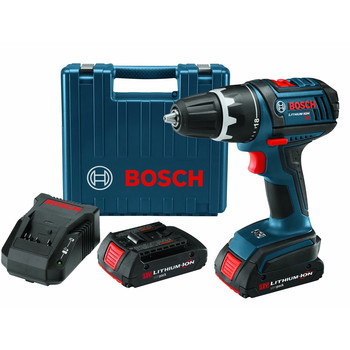 Bosch Factory-Reconditioned DDS180-02-RT 18V Cordless Lithium-Ion Compact Tough 1/2 in. Drill Driver Kit with 2 Slim Pack Batteries at Sears.com