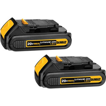 DeWalt DCB201-2 20V MAX 1.5 Ah Compact Lithium-Ion Battery 2-Pack at Sears.com