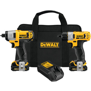 DeWalt DCK210S2 12V MAX Cordless Lithium-Ion 1/4 in. Impact Driver and Screwdriver Combo Kit at Sears.com