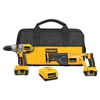 DeWalt DCK271L XRP 18V Cordless Lithium-Ion 1/2 in. Hammer Drill and Recip Saw Combo Kit at Sears.com