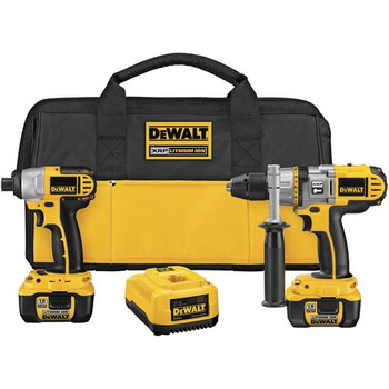 DeWalt DCK275L XRP 18V Cordless Lithium-Ion 1/2 in. Hammer Drill and Impact Driver Combo Kit at Sears.com