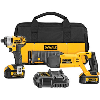 DeWalt DCK298L2 20V MAX Cordless Lithium-Ion 1/4 in. Impact Driver and Recip Saw Combo Kit at Sears.com