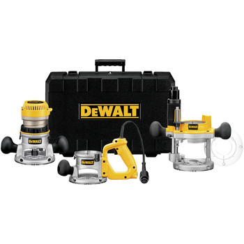 DeWalt DW618B3 2-1/4 HP EVS Three Base Router Kit at Sears.com