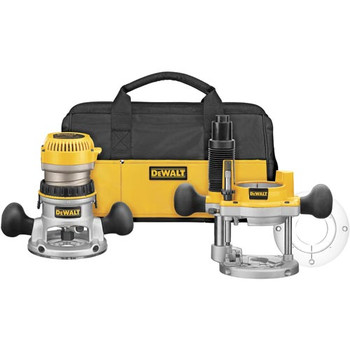 DeWalt DW618PKB 2-1/4 HP EVS Fixed and Plunge Base Router Combo Kit at Sears.com