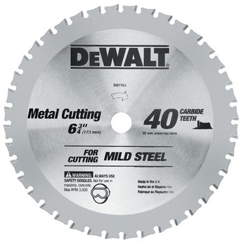 DeWalt DW7763 6-3/4 in. 40 Tooth Ferrous Metal Cutting Circular Saw Blade at Sears.com