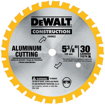 DeWalt DW9052 5-3/8 in. 30 Tooth Cordless Circular Saw Blade at Sears.com