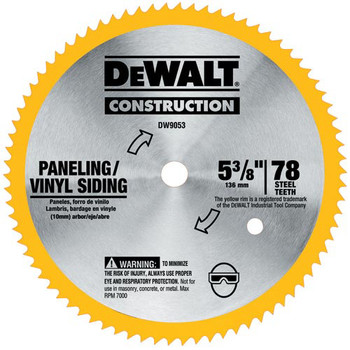 DeWalt DW9053 5-3/8 in. 80 Tooth Cordless Circular Saw Blade at Sears.com