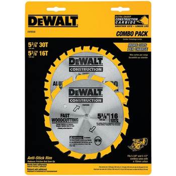 DeWalt DW9058 2-Piece 5-3/8 in. Cordless Circular Saw Blade Combo Pack at Sears.com