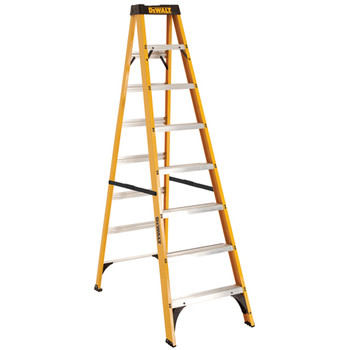 DeWalt DXL3110-08 8 ft. Type I Duty Rating 250 lbs. Load Capacity Fiberglass Step Ladder