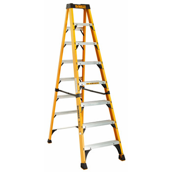 DeWalt DXL3410-08 8 ft. Type IAA Duty Rating 375 lbs. Load Capacity Fiberglass Step Ladder