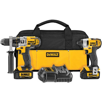 DeWalt Factory-Reconditioned DCK290L2R 20V MAX Cordless Lithium-Ion 1/2 in. Hammer Drill and Impact Driver Combo Kit at Sears.com