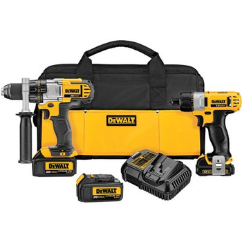 DeWalt Factory-Reconditioned DCK295L3R 12V/20V MAX Cordless Lithium-Ion 1/2 in. Drill Driver and Screwdriver Combo Kit at Sears.com