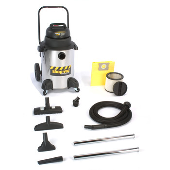 Shop-Vac&#174 9252310 10 Gallon 6.25 Peak HP Stainless Steel Industrial Super Quiet Wet/Dry Vacuum with Dolly at Sears.com
