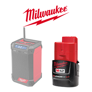 FREE Milwaukee M12 Battery when you purchase a qualifying Milwaukee M12 Bare Tool