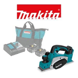 Choice of a FREE Makita Bare Tool when you order a Makita 18V LXT Battery & Charger Pack