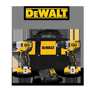 FREE DeWALT 12V MAX Bare Tool when you order a DeWALT 12V MAX 3/8 in. Drill Driver and 1/4 in. Impact Driver Kit