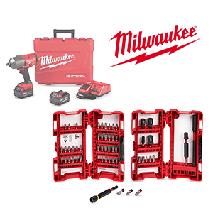 Get 20% off a Milwaukee M18 FUEL Kit when you spend over $25 on qualifying Milwaukee Accessories!