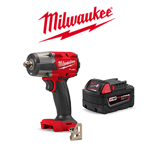 FREE Milwaukee M18 5.0Ah Battery when you purchase a qualifying Milwaukee M18 FUEL Bare Tool