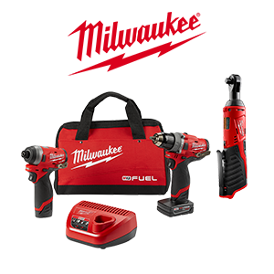Your choice of a FREE Milwaukee M12 FUEL Bare Tool or Battery when you order a qualifying Milwaukee M12 FUEL Kit.