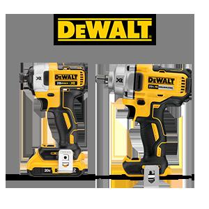FREE DeWALT 20V MAX Bare Tool when you purchase 2 qualifying DeWALT 20V MAX Tools.*