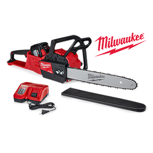 Free Milwaukee battery or charger with a qualifying Milwaukee M18 FUEL chainsaw