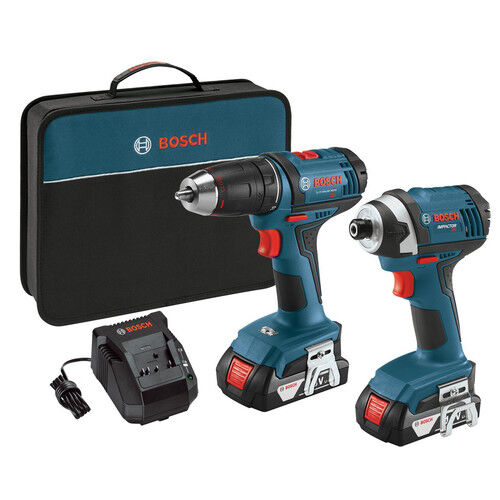 Bosch-18V-Li-Ion-Drill-Driver-amp-Impact-Driver-Kit-CLPK26-181-Reconditioned