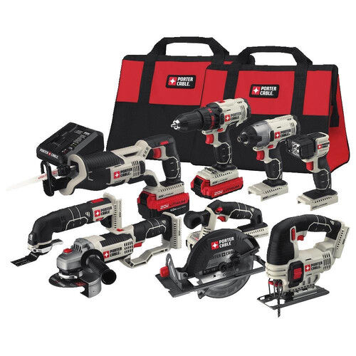 Porter-Cable PCCK619L8R 20V MAX Cordless Li-Ion 8-Tool Combo Kit Reconditioned