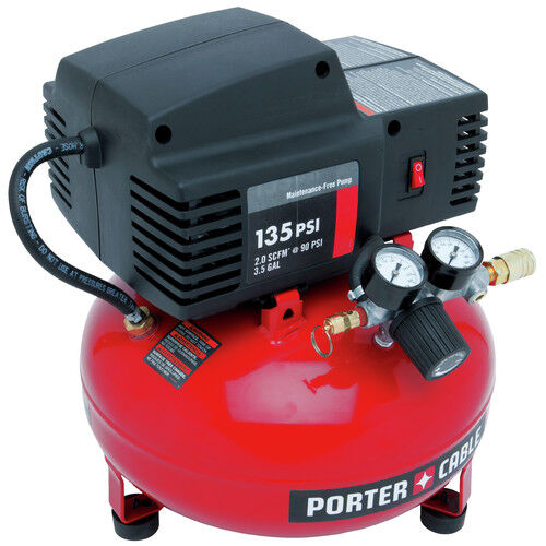 Porter-Cable 135 PSI 3.5 Gallon Oil-Free Pancake Compressor PCFP02003 Refurb