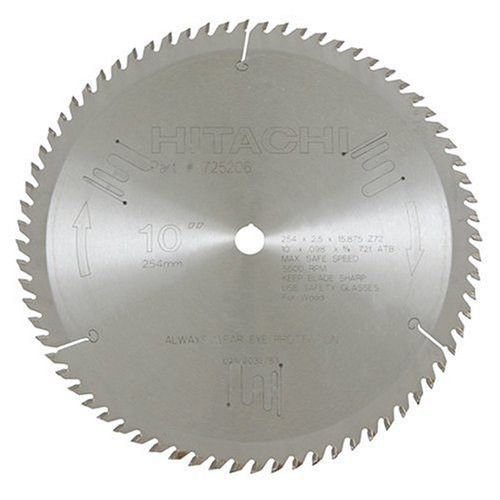 Hitachi 725206 10 in. 72-Tooth ATB Fine Finish Saw Blade