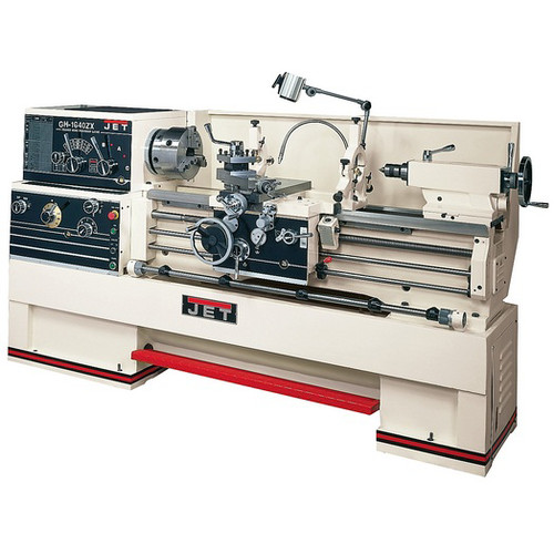 JET GH-1660ZX Lathe with 2-Axis ACU-RITE 200STaper Attachment and Collet Closer Installed