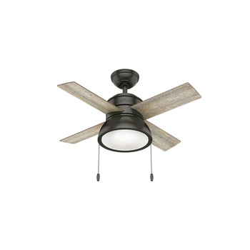 Hunter 59387 36 in. Loki Ceiling Fan with Light (Noble Bronze)