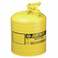 Justrite 7150200 Type I Steel Safety Can for Diesel (5 Gallons)