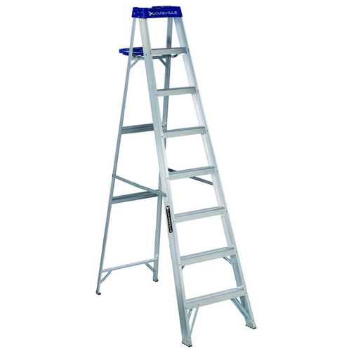 Louisville AS2110 10 ft. Type I Duty Rating 250 lbs. Load Capacity Aluminum Step Ladder with Molded Pail Shelf