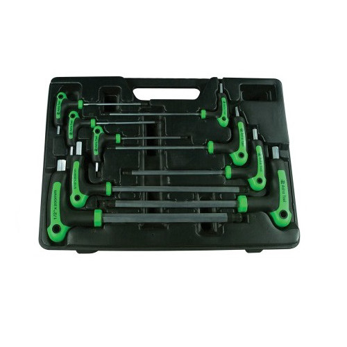 Astro Pneumatic 1025 9-Piece T-4 Handle Ball-Point & Hex Key SAE Wrench Set