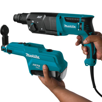 Makita HR2651 7 Amp 1 in. Pistol-Grip Rotary Hammer with HEPA Extractor image number 3