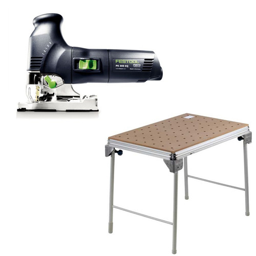Festool PS 300 EQ Trion Barrel Grip Jigsaw plus MFT/3 Basic  Multi-Function Work Table